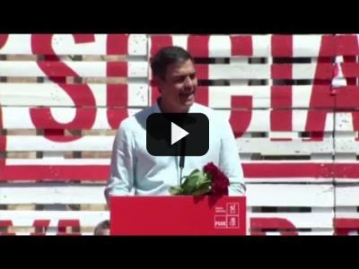 Embedded thumbnail for Video: PEDRO SÁNCHEZ (PSOE) - Mitin en BARCELONA (22/04/2017) | Primarias PSOE