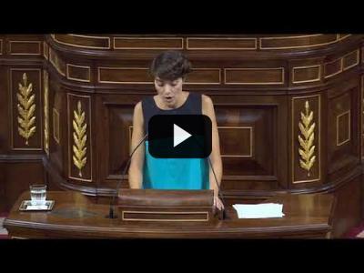 Embedded thumbnail for Video: Rosa Martínez -  Intervención Pleno del Congreso (20/09/18)