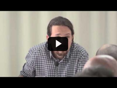 Embedded thumbnail for Video: PABLO IGLESIAS (Podemos) - Intervención Consejo Ciudadano MADRID (22/04/2017)