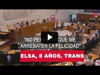 "Embedded thumbnail for Video: Elsa, 8 años, trans: ""No permitan que me arrebaten la felicidad"""