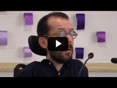 Embedded thumbnail for Video: PABLO ECHENIQUE (Podemos) - Rueda de prensa tras Consejo de Coordinación (21/05/2018)