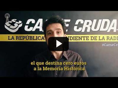 """Embedded thumbnail for Video: """"El PP no pasa la página de Franco porque quiere seguir en ella"""" - Artículo Crudo #421"""