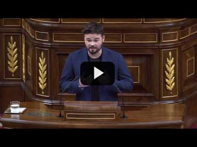 Embedded thumbnail for Video: GABRIEL RUFIAN (ERC) ataca al REY y a la CASA REAL en el Congreso