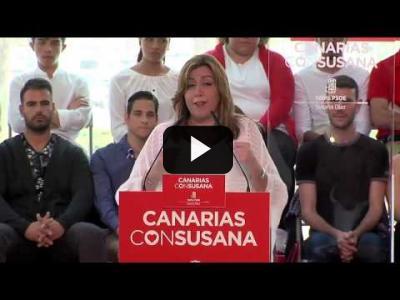 Embedded thumbnail for Video: SUSANA DÍAZ (PSOE) - Primer MITIN de Campaña | Primarias PSOE