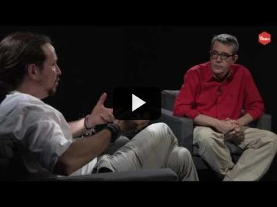 Embedded thumbnail for Video: Otra Vuelta de Tuerka - Pablo Iglesias con Máximo Pradera (programa completo)