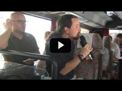 Embedded thumbnail for Video: PABLO IGLESIAS (Podemos) en la 'Ruta del TRAMABÚS' (17/04/2017)
