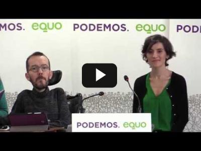 Embedded thumbnail for Video: Rueda de prensa Equo-Podemos: presentación preacuerdo electoral #28A