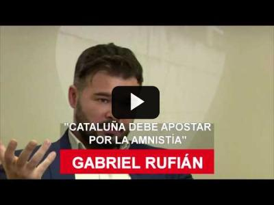 "Embedded thumbnail for Video: Gabriel Rufián: ""Catalunya debe apostar por la amnistía"""