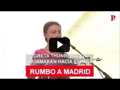 Embedded thumbnail for Video: Greta Thunberg pone rumbo a España... en catamarán