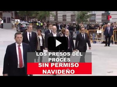 Embedded thumbnail for Video: Los presos del 'procés', sin permiso navideño