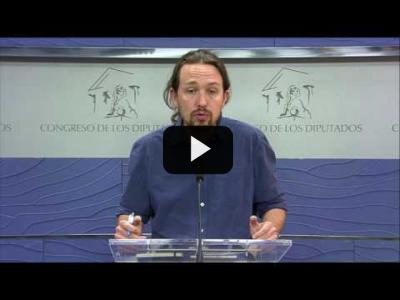 Embedded thumbnail for Video: PABLO IGLESIAS (Podemos) sobre la citación de RAJOY por la GÜRTEL (18/04/2017)
