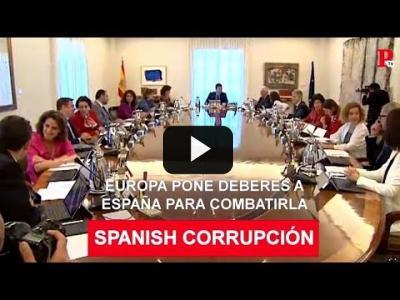 Embedded thumbnail for Video: 'Spanish corrupción': Europa pone deberes a España para combatirla