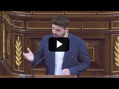 Embedded thumbnail for Video: GABRIEL RUFIAN (ERC) ataca con VERDADES al PP en el Congreso (30/05/2017)