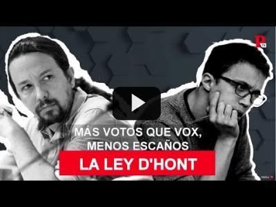 Embedded thumbnail for Video: Ley D'Hondt: más votos, menos escaños
