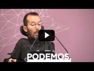 Embedded thumbnail for Video: PABLO ECHENIQUE (Podemos) - Rueda de prensa tras Consejo de Coordinación (03/04/2017)
