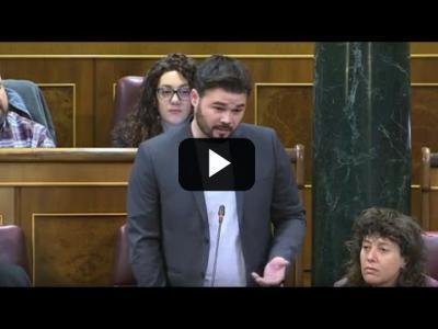 "Embedded thumbnail for Video: GABRIEL RUFIÁN (ERC) a RAJOY: ""Lo suyo TIENE CURA"" (05/04/2017)"