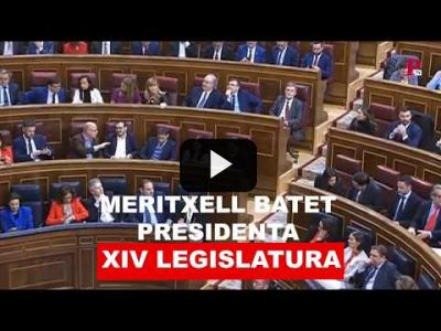 Embedded thumbnail for Video: Meritxell Batet, reelegida presidenta del Congreso
