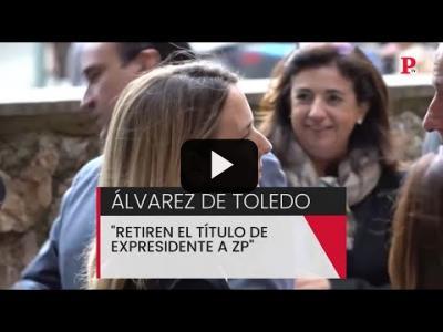 Embedded thumbnail for Video: Cayetana Álvarez de Toledo, a por Zapatero