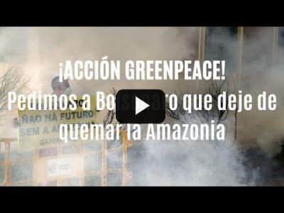 Embedded thumbnail for Video: ¡¡ACCIÓN GREENPEACE!! Pedimos a Bolsonaro que deje de quemar la Amazonia