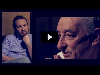 Embedded thumbnail for Video: Otra Vuelta de Tuerka -  Pablo Iglesias con Cándido Ibar