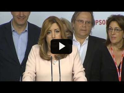 Embedded thumbnail for Video: SUSANA DIAZ - Declaraciones tras PERDER las primarias del PSOE