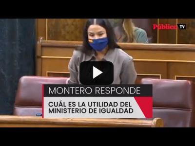 Embedded thumbnail for Video: Irene Montero le explica a una diputada de Vox para qué sirve el Ministerio de Igualdad
