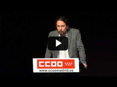 """Embedded thumbnail for Video: PABLO IGLESIAS (Podemos) - Intervención en el acto """"POR BOLIVIA, CON EVO"""" (21/02/2018)"""