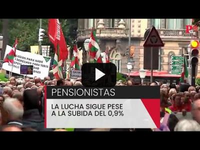 Embedded thumbnail for Video: Pensionistas: la lucha sigue pese a la subida del 0,9%