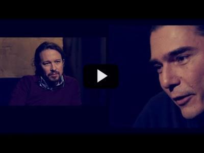 Embedded thumbnail for Video: Otra Vuelta de Tuerka - Pablo Iglesias con Daniel Serrano