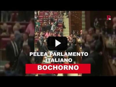 Embedded thumbnail for Video: Pelea en el parlamento italiano