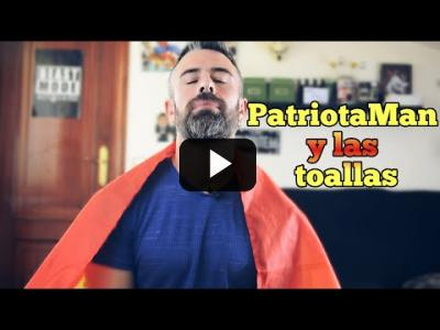 Embedded thumbnail for Video: A ver si PatriotaMan lo entiende mejor con una toalla, que con una bandera.
