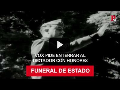 Embedded thumbnail for Video: Vox pide enterrar a Franco con honores