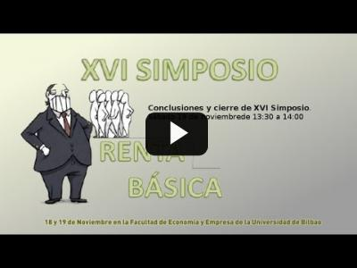 Embedded thumbnail for Video: Comunicacion - XVI Simposio de Red Renta Básica