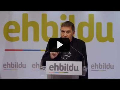 """Embedded thumbnail for Video: ARNALDO OTEGI (EH-Bildu) - Sobre la MOCIÓN de CENSURA y la """"INVOLUCIÓN ANTIDEMOCRATICA"""" (06/06/2018)"""
