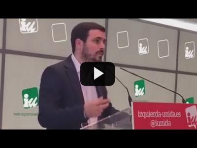 Embedded thumbnail for Video: ALBERTO GARZÓN (IU) - Reunión COORDINADORA FEDERAL de Izquierda Unida (22/04/2017)