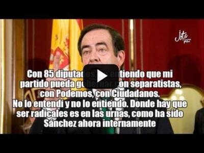 Embedded thumbnail for Video: José Bono carga contra Pedro Sánchez y le llama radical.