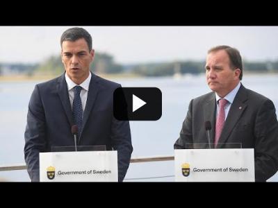 Embedded thumbnail for Video: Pedro Sánchez arropa al socialdemócrata Lofven a cuatro días de las elecciones suecas