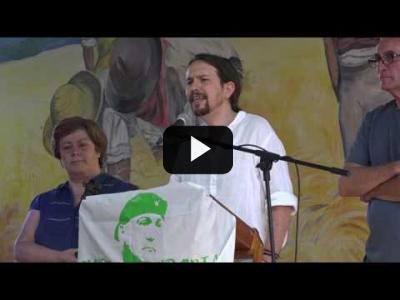 Embedded thumbnail for Video: PABLO IGLESIAS (Podemos) recoge PREMIO del SAT (04/06/2017)