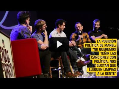 "Embedded thumbnail for Video: Manel: ""No queremos teñir nuestras canciones con política"" 