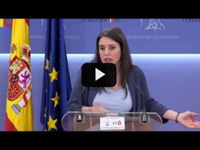 Embedded thumbnail for Video: IRENE MONTERO (Podemos) - Rueda de prensa tras la Junta de Portavoces (07/06/2018)