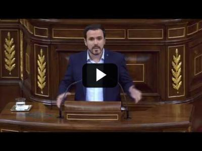 Embedded thumbnail for Video: ALBERTO GARZÓN (IU) - Moción de Censura a RAJOY (31/05/2018)