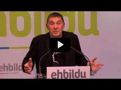 Embedded thumbnail for Video: ARNALDO OTEGI (EH-Bildu) valora la MOCION de CENSURA a RAJOY (28/05/2018)