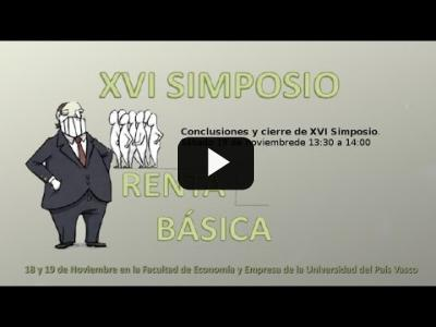 Embedded thumbnail for Video: Conclusiones - Red Renta Básica - XVI Simposio