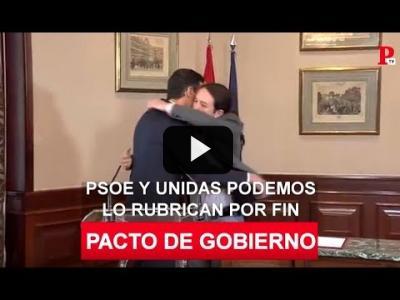 Embedded thumbnail for Video: Sánchez e Iglesias acuerdan el primer Gobierno de coalición de la democracia
