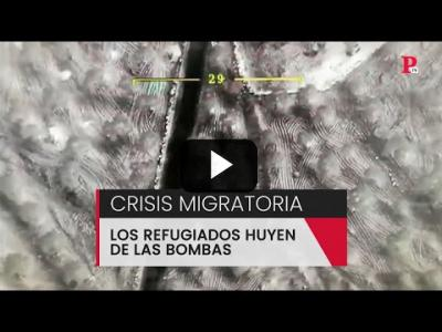 Embedded thumbnail for Video: Crisis migratoria: los refugiados huyen de las bombas