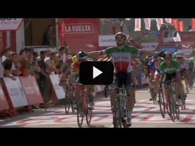 Embedded thumbnail for Video: Elia Viviani repite victoria en la Vuelta ciclista a España