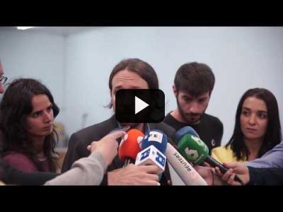 Embedded thumbnail for Video: PABLO IGLESIAS (Podemo) - Declaraciones sobre MOCION de CENSURA (20/05/2017)