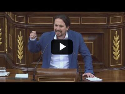 "Embedded thumbnail for Video: PABLO IGLESIAS llama ""FASCISTA""  a ALBERT RIVERA en el Congreso (31/05/2018)"
